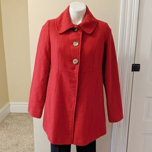 Liz Lange red maternity winter coat